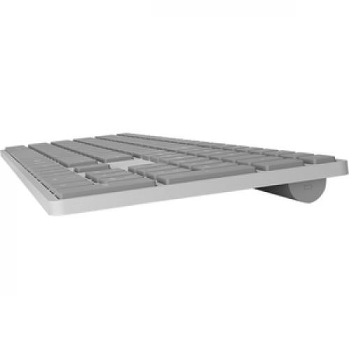 Microsoft Surface Keyboard Gray   Wireless   Bluetooth   Compatible W/ Smartphone   QWERTY Key Layout   Sleek & Simple Design Left/500