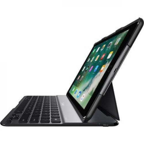 "Belkin QODE Ultimate Lite Keyboard/Cover Case For 9.7"" Apple IPad (5th Generation), IPad Air Tablet   Black Left/500"