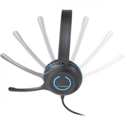 Cyber Acoustics AC 5008 USB Stereo Headset Left/500