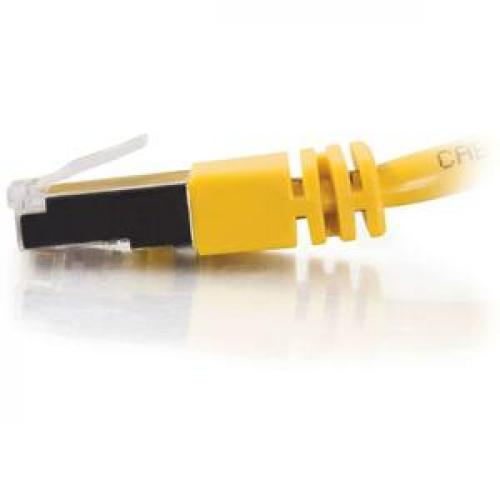 C2G 7ft Cat5e Molded Shielded (STP) Network Patch Cable   Yellow Left/500