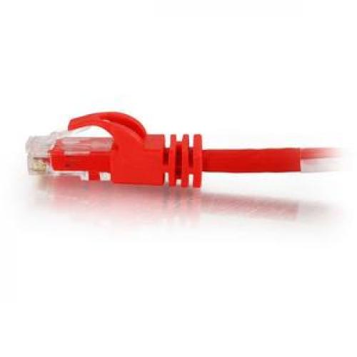 C2G 3ft Cat6 Snagless Crossover Unshielded (UTP) Network Patch Cable   Red Left/500