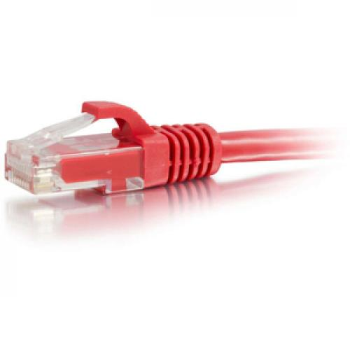 C2G 5ft Cat6 Snagless Crossover Unshielded (UTP) Network Patch Cable   Red Left/500
