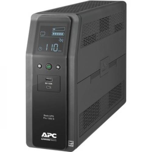 APC By Schneider Electric Back UPS Pro BR BR1350MS 1350VA Tower UPS Left/500