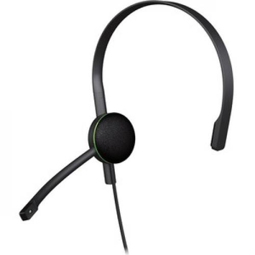 Xbox One CHAT Headset Black     Wired   Designed For Comfort   Adjustable Volume Settings   Monaural Earpiece   No Batteries Needed Left/500