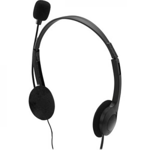 Adesso Xtream H4   3.5mm Stereo Headset With Microphone   Noise Cancelling   Wired  6 Ft Cable  Lightweight Left/500