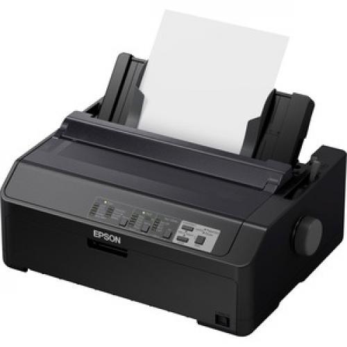 Epson LQ 590II 24 Pin Dot Matrix Printer   Monochrome   Energy Star Left/500