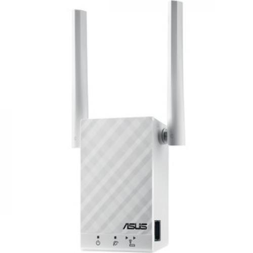 Asus RP AC55 IEEE 802.11ac 1.17 Gbit/s Wireless Range Extender Left/500