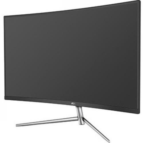 "AOC C32V1Q 31.5"" Full HD Curved Screen LCD Monitor   16:9   Black, Silver Left/500"