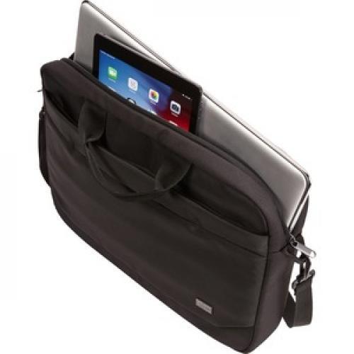 "Case Logic Advantage ADVA 116 BLACK Carrying Case (Attaché) For 10"" To 16"" Notebook   Black Left/500"