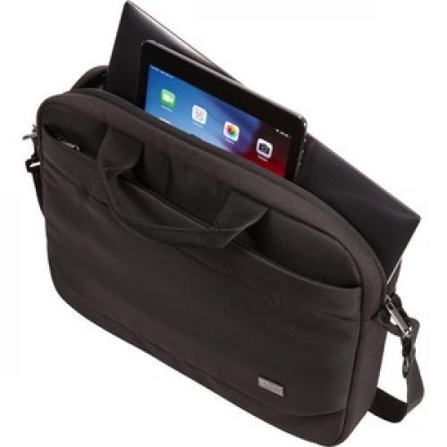 "Case Logic Advantage ADVA 114 BLACK Carrying Case (Attaché) For 10"" To 14.1"" Notebook   Black Left/500"