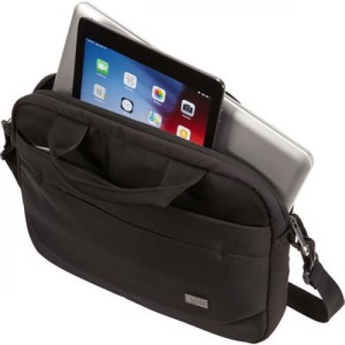 "Case Logic Advantage ADVA 111 BLACK Carrying Case (Attaché) For 10"" To 12"" Notebook   Black Left/500"