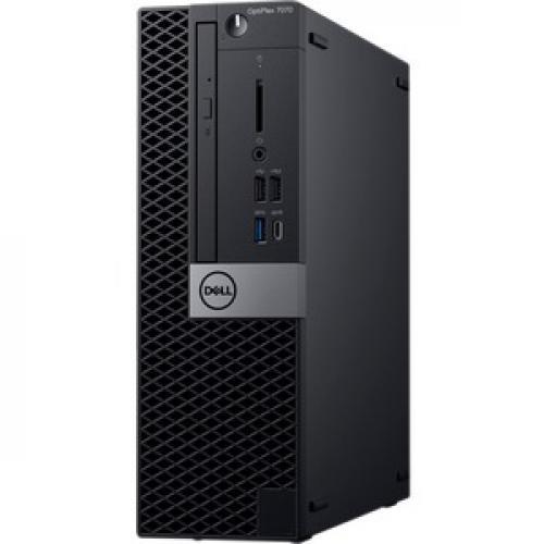 Dell OptiPlex 7000 7070 Desktop Computer   Intel Core I5 9th Gen I5 9500 3 GHz   8 GB RAM DDR4 SDRAM   256 GB SSD   Small Form Factor Left/500