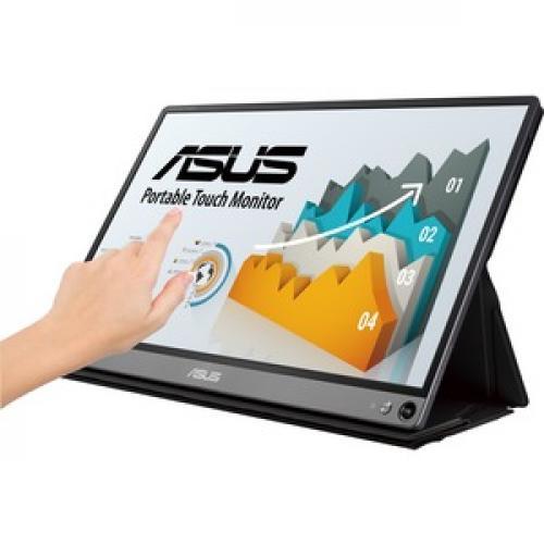 "Asus ZenScreen MB16AMT 15.6"" LCD Touchscreen Monitor   16:9   5 Ms GTG Left/500"