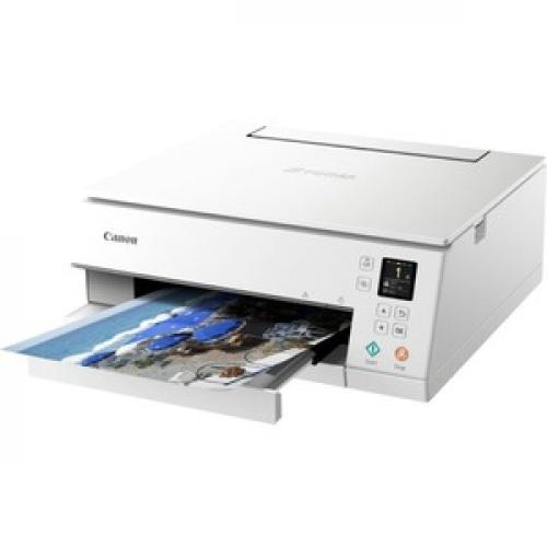 Canon PIXMA TS TS6320 White Inkjet Multifunction Printer   Color Left/500