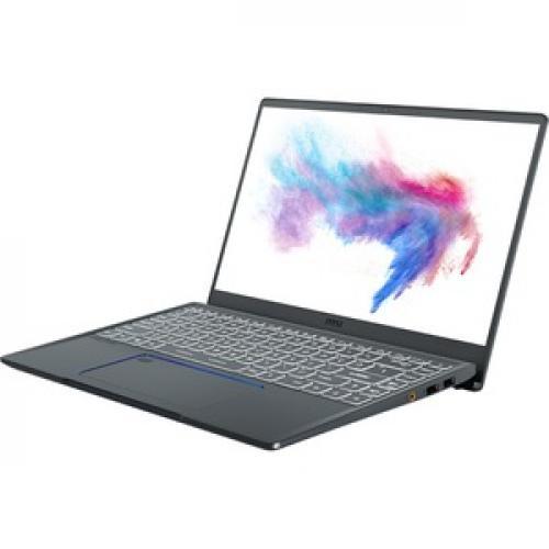 "MSI Prestige 14 A10SC 020 14"" Laptop I5 16GB RAM 512GB SSD GTX 1650 Max Q 4GB   10th Gen I5 10210U Quad Core   NVIDIA GeForce GTX 1650 Max Q 4GB   10 Hr Battery Life   In Plane Switching (IPS) Technology   Gray With Blue Diamond Cut   Windows 10 Pro Left/500"