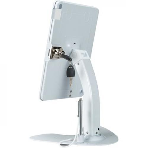 CTA Digital Desk Mount For IPad, IPad Air, IPad Pro, Card Reader   White Left/500