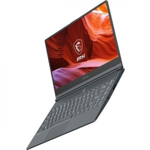 "MSI Modern 14 14"" Laptop Intel Core I5 10210U 8GB RAM 512GB SSD Carbon Gray   10th Gen I5 10210U Quad Core   In Plane Switching (IPS) Technology   True Color Technology   11 Hr Battery Life   Windows 10 Pro Left/500"