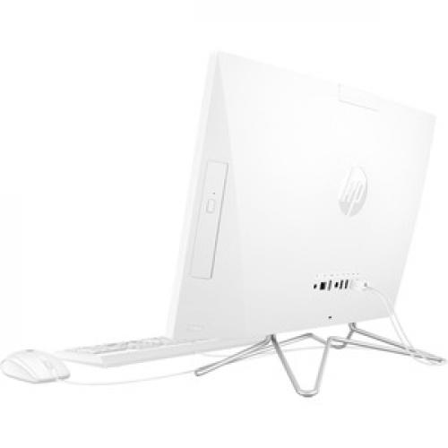 "HP 24 Series 23.8"" All In One Desktop Computer Intel Core I5 12GB RAM 512GB SSD Snow White   10th Gen I5 1035G1 Quad Core   USB Wired Keyboard & Mouse Included   3 In 1 Memory Card Reader   DVD Writer   Windows 10 Home Left/500"