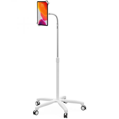 CTA Digital Heavy Duty Medical Mobile Floor Stand For 7 13 Inch Tablets (White) Left/500