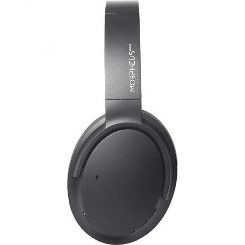 Morpheus 360® KRAVE Wireless Over Ear Headphones, AptX® Immersive Sound, CVC 8.0 Noise Cancelling Microphone, 40 Hour Play Time, Travel Case, Black HP7800B Left/500