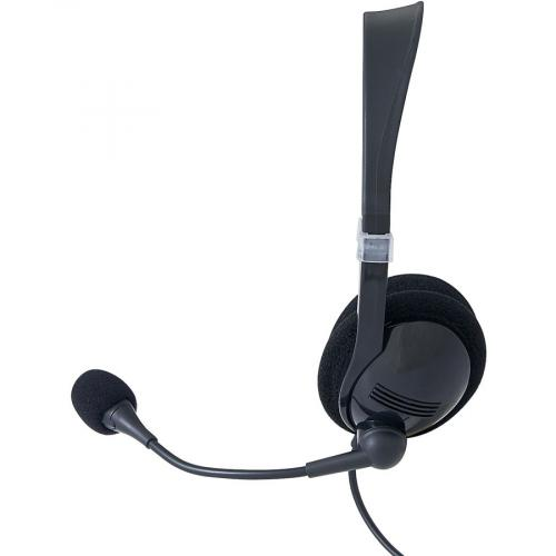 Verbatim Stereo Headset With Microphone And In Line Remote Left/500