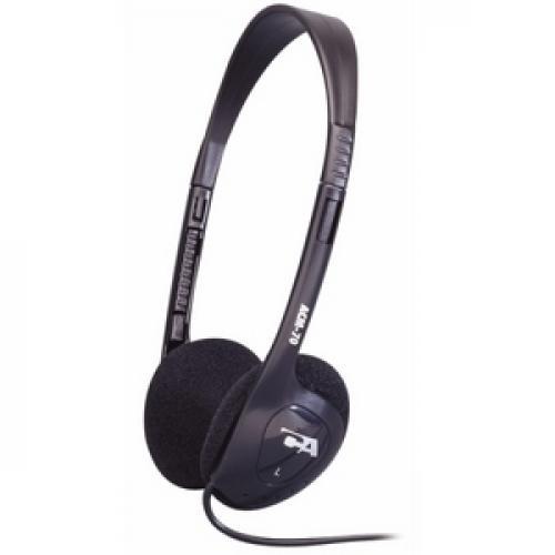 Cyber Acoustics ACM 70b Lightweight PC/Audio Stereo Headphone Left/500