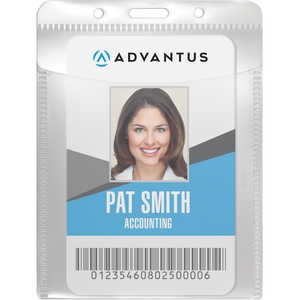 Advantus PVC Free Vertical Badge Holder Life-Style