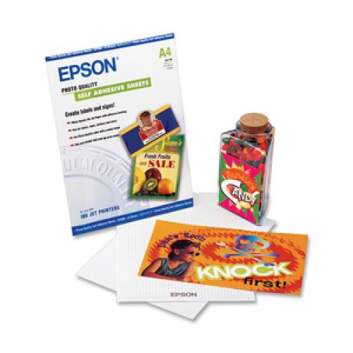 Epson A4 Self Adhesive Photo Paper Life-Style/500
