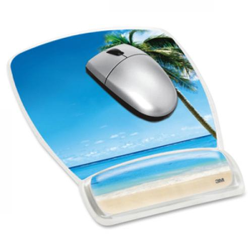 3M Beach Design Gel Mouse Pad Wrist Rest Life-Style/500