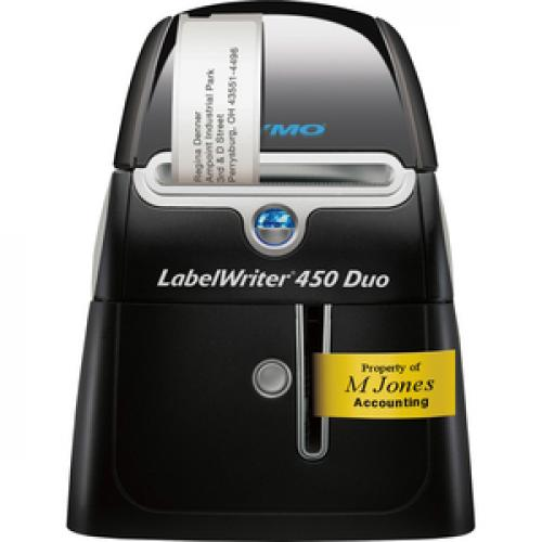 Dymo LabelWriter 450 Duo Direct Thermal Printer   Monochrome   Platinum   Label Print Life-Style/500