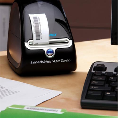 Dymo LabelWriter 450 Direct Thermal Printer   Monochrome   Label Print   USB   Black, Silver Life-Style/500