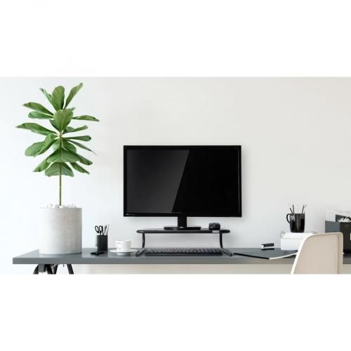 Allsop Metal Art Monitor Stand (Large) 18 Inch Wide Platform   Black (30336) Life-Style/500
