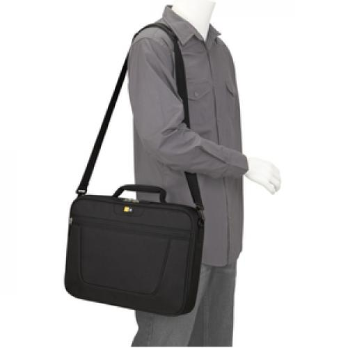 "Case Logic VNCI 215 Carrying Case (Briefcase) For 15"" To 16"" Notebook   Black Life-Style/500"
