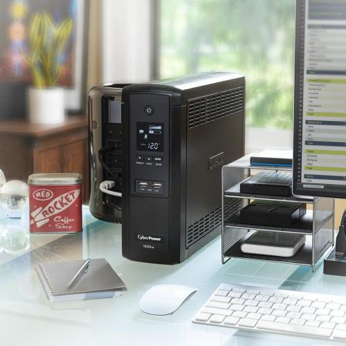 CyberPower UPS Systems BRG1500AVRLCD Intelligent LCD    Capacity: 1500 VA / 900 W Life-Style/500