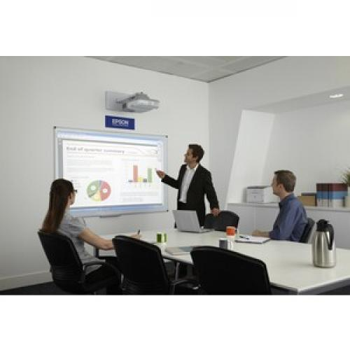 Epson BrightLink 536Wi Short Throw LCD Projector   16:10   White Life-Style/500