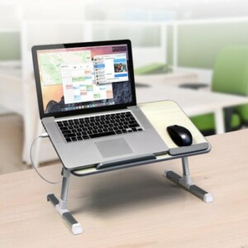 Aluratek Adjustable Ergonomic Laptop Cooling Table With Fan Life-Style/500
