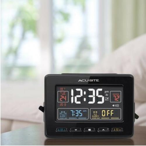 AcuRite Atomic Dual Alarm Clock Life-Style/500