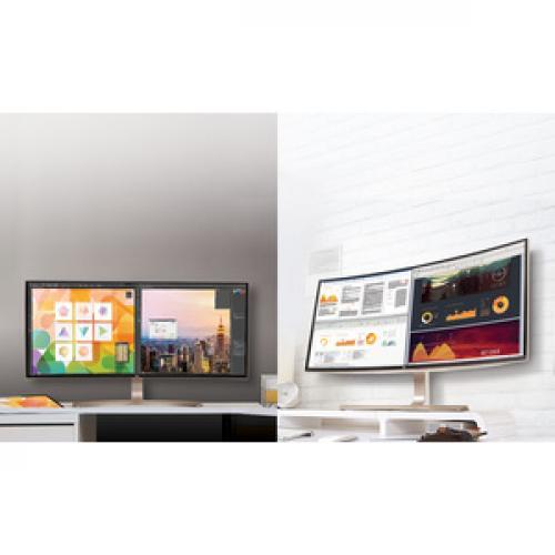 """LG Ultrawide 38UC99 W 37.5"""" WQHD+ Curved Screen LED LCD Monitor   21:9   Black Life-Style/500"""