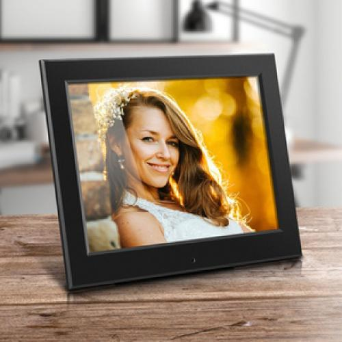 "Aluratek 8"" Slim Digital Photo Frame With Auto Slideshow Feature Life-Style/500"
