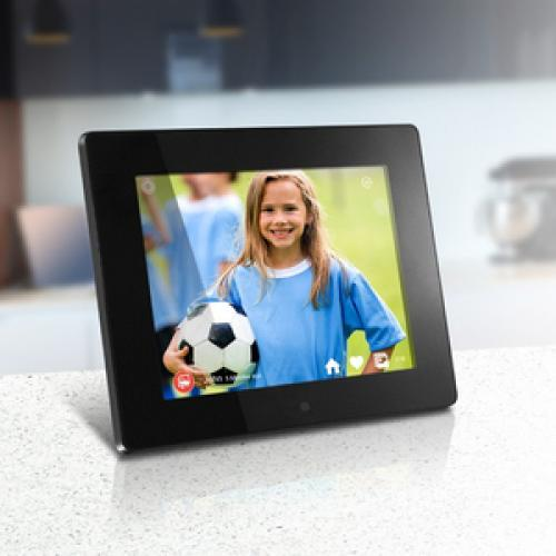 "Aluratek 8"" Wi Fi Digital Photo Frame With Touchscreen LCD Display Life-Style/500"