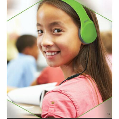 Avid Education AE 42 Headset With Inline Microphone And Volume Control, Green Life-Style/500