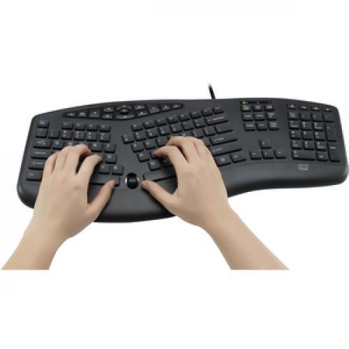 Adesso TruForm Media 160   Ergonomic Desktop Keyboard Life-Style/500