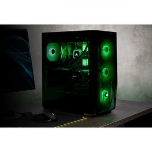 Corsair Carbide Series SPEC DELTA RGB Tempered Glass Mid Tower ATX Gaming Case   Black Life-Style/500