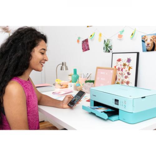 Canon PIXMA TS TS5320 White Inkjet Multifunction Printer   Color Life-Style/500