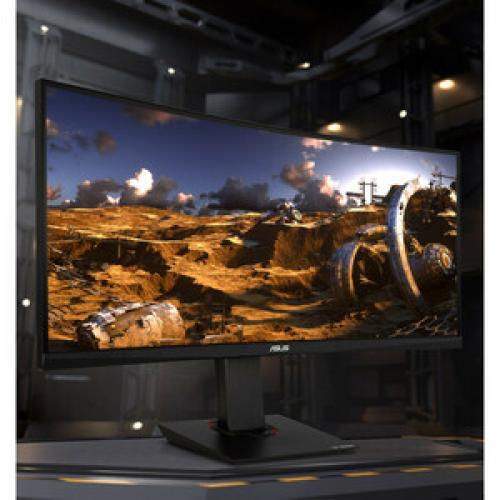 "TUF VG35VQ 35"" WQHD Curved Screen LED Gaming LCD Monitor   21:9   Black Life-Style/500"