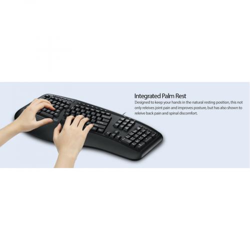 Adesso Desktop Ergonomic Smart Card Reader Keyboard (TAA Compliant) Life-Style/500