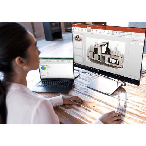 "Lenovo Q27h 10 27"" WQHD WLED LCD Monitor   16:9   Gray Life-Style/500"