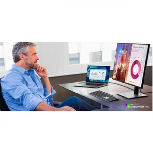 "Dell UltraSharp U2720Q 27"" LCD LED Monitor   3840 X 2160 4K Display   60 Hz Refresh Rate   In Plane Switching Technology   USB C Connectivity   99% SRGB Color Gamut Life-Style/500"