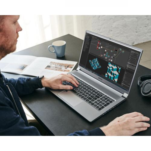 """MSI Creator 17 A10SFS 254 17.3"""" Gaming Notebook   3840 X 2160   Core I7 I7 10875H   32 GB RAM   1 TB SSD   Space Gray With Silver Diamond Cut Life-Style/500"""