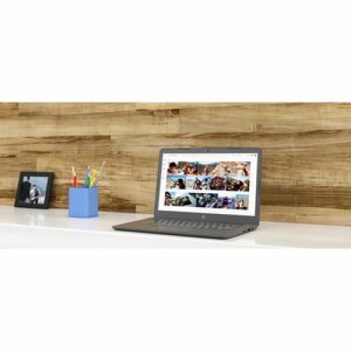 "HP Chromebook 14"" Intel Celeron N3350 4GB RAM 32GB EMMC Chalkboard Gray   Intel Celeron N3350 Dual Core   Intel HD Graphics 500   USB 3.1 Connector   Audio By B&O   11 Hr 30 Min Battery Life Life-Style/500"